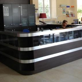 Barras de recepci n gruppo p g decoraci n para gimnasios balnearios y golf clubs - Decoracion de gimnasios ...